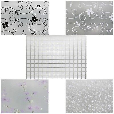 Waterproof Frosted Privacy Bedroom Bathroom Window Glass Film Sticker 45*200CM