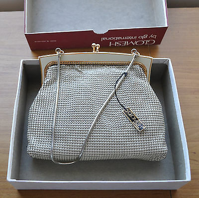Vintage Authentic Glomesh Clutch/Evening Bag with chain in VGC in Original Box