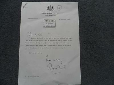 Margaret Thatcher Letter to Sir Colin Marshall Concorde Flight October 1987 Copy
