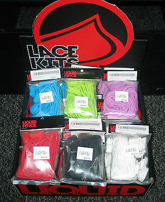 Liquid Force Lace Kit - 4 Laces - 4 Lace Locks and Clips Choose a Colour