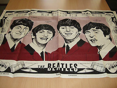 Memorabilia Beatles Collectible Tea Towel