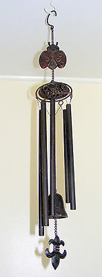 Cast Iron Hanging Bell - Rustic Garden Ornament - Large Wind Chime Beetle - CI62