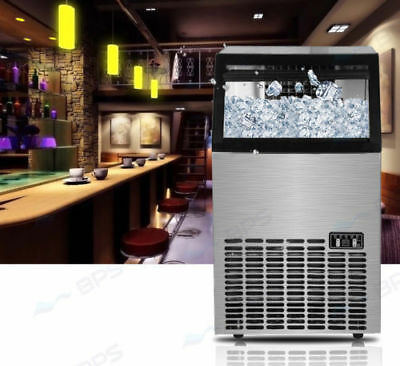 Portable 4.5L Home Ice Maker Machine Silver Automatic 20~23KG/Day