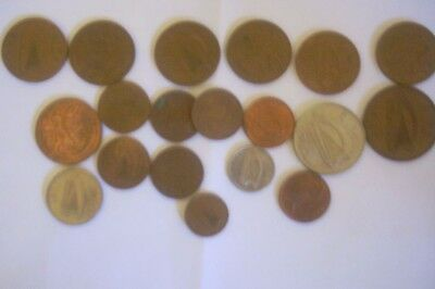 A collection of coins from Ireland.