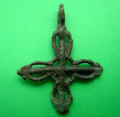 Ancient Viking Bronze Cross Pendant  RARE!!!