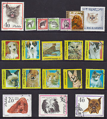 DOG & CAT stamps