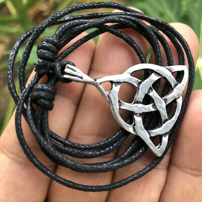 Trinity Celtic Triquetra Charmed Triskele Pagan Vintage inspired Pewter Pendant