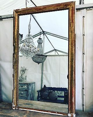 French, 19th Century, Antique, Vintage, Mirror, Overmantle, Original