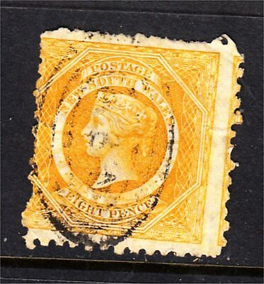 NEW SOUTH WALES 8d YELLOW DIADEM USED (A78)