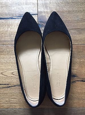 COUNTRY ROAD Black Suede Flats 37.5