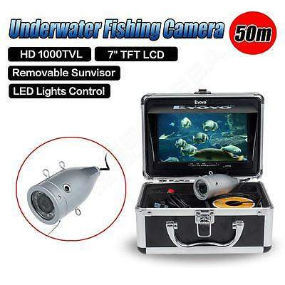 "Eyoyo 50m Underwater Video Camera Fishing Fish Finder Color 7"" LCD TFT HD Screen"