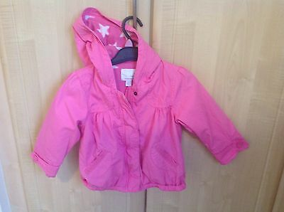 GIRLS  NEXT PINK COAT. FULLY LINED, AGE 2 to 3 ,