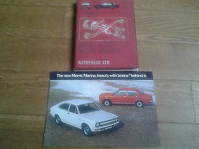 morris marina brochure and autbook manual 1970s original
