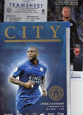 Leicester City v Middlesbrough 26.11.2016