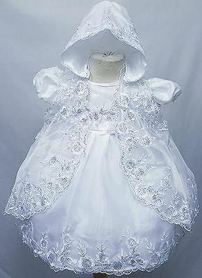 Baby Girls Stunning Baby Highly Detailed Sequined  3 Pieces christening Dress