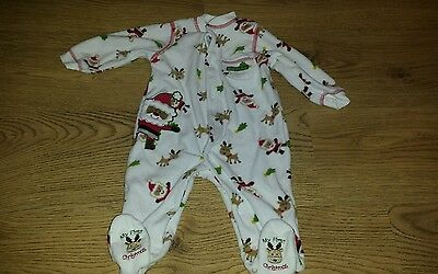 My First Christmas Fleece Sleepsuit 3-6 months