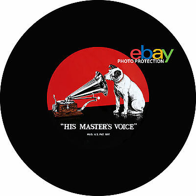 "Ltd.Ed. HIS MASTERS VOICE  7"" or 12"" Turntable / Platter MAT NEW nipper hmv gr"