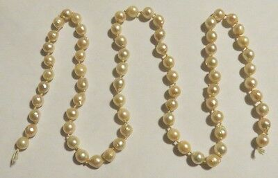 RARE Vint 40's 50's Pin Up FRESHWATER Estate PEARLS Strand NATURAL Necklace HUGE