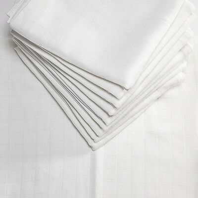 Large one muslin squares SET OF 10!!