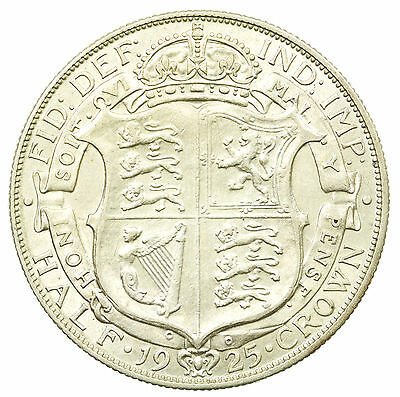 Great Britain, George V Halfcrown, Silver, Rare Date, High Grade, 1925