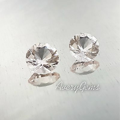Morganite Pair Natural  0,78&0,75Ct Precious Gemstones Precision Cut ByAveryGems