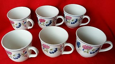BHS British Homes Stores Priory Cups x 6 Tableware
