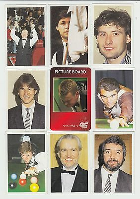 Snooker : UK sports game card group - 29 cards