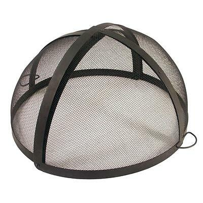 Folding Spark Screen Fire Pit Fireplace Guard Round Replacement Cover Mesh Steel