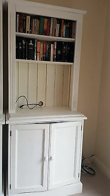 Solid white pine bookcases with cupboards