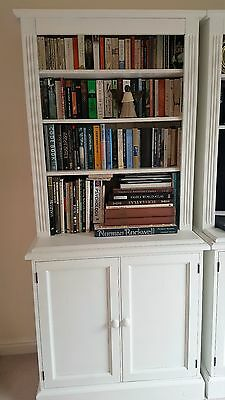 Sold white pine bookcase with cupboards