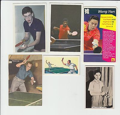 Table Tennis : UK + European sports card group - 6 cards