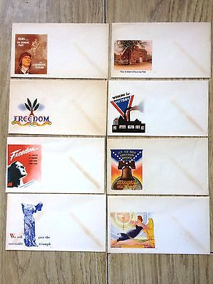Job Lot of 8 USA America WWII Patriotic Covers Envelopes