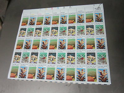 Scotts 1827-1830 15 Cent Sheet Stamps Coral Reef Sheet  Of 50