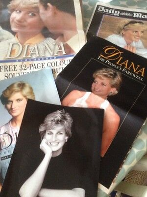 Old Newspaper Supplements And Papers Of Princess Diana's Life And Death