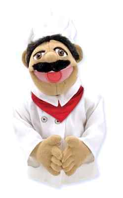 Chef Puppet 15 x 5 x 6.5 Inch Story Telling Animated Role Play Melissa And Doug