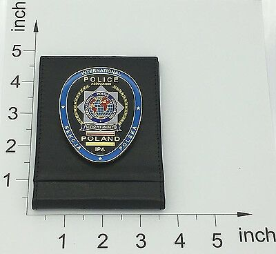 International Police Association Section Polish Ipa 3D Metal Insignia Lether