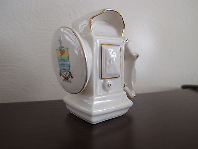 VINTAGE SHELLEY CRESTED CHINA 342  BICYCLE LAMP WORTHING LUCAS P&H MILLER c1900