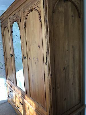 SOLID PINE TRIPLE WARDROBE - Please see other matching Items for sale.