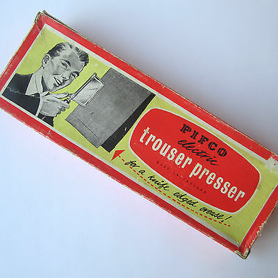 Vintage Trouser Press PIFCO Hand Held Electric Boxed retro mid century 50/60s