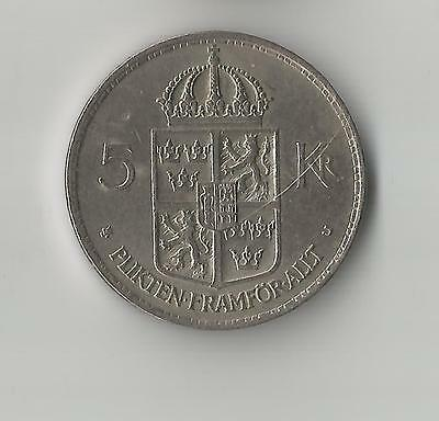 1972 Sweden 5 Kronor coin 28mm