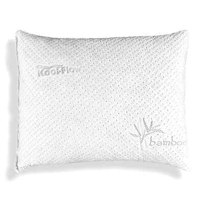 Xtreme Comforts Slim Hypoallergenic Bamboo Pillow - Shredded Memory Foam With