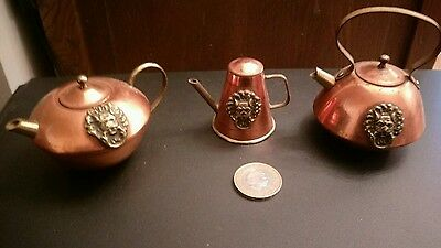 Miniature vintage copper and brass Kettle And More