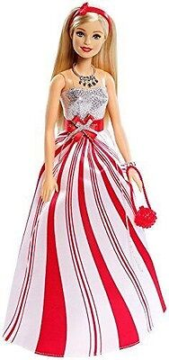 Barbie 2016 Holiday Wishes Doll NEW Fast Shipping Candy Cane Dress Christmas