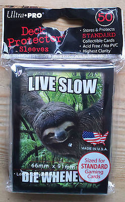 Ultrapro - Standard 50 Live Slow Die Whenever - Sloth - Card Game Sleeves