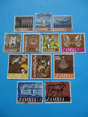 Zambia 1968 SG129-140 1n-2k Used Complete set