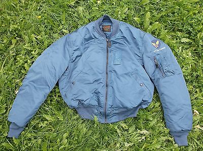 usaf vintage ma1 flying jacket color blue sizes in stock  m-l-xl-xxl
