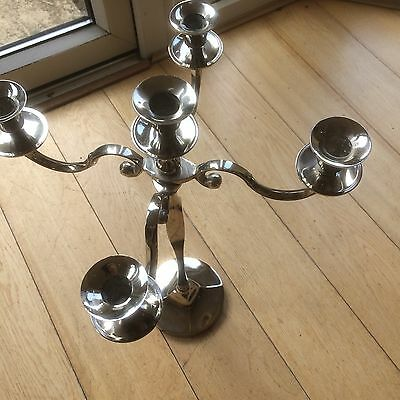 Traditional 5  Arm Wedding Candelabra Candle Holder with 5 new candles