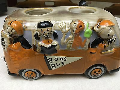 New Yankee Candle 2016 BONEY BUNCH BOOS BUS W/ Double Tea Light Holders SOLD OUT