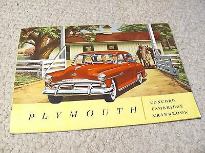 1950s PLYMOUTH (USA) LARGE SALES BROCHURE...