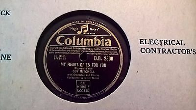"""10"""" 78Rpm - Guy Mitchell - My Heart Cries For You (Columbia D.b. 2800)"""